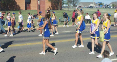 Piedmont Founders Day Parade Cheer Leaders