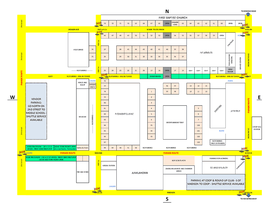 Outdoor Booth Map